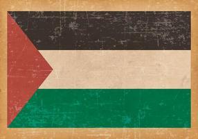 Bandiera del grunge della Palestina vettore