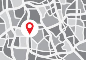 Vettore di mappa città astratta