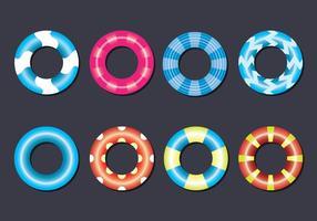Set di icone vettoriali Innertube