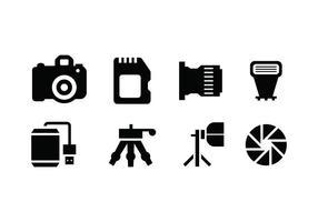 Icona di vettore di strumenti di fotografia