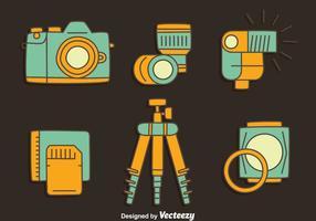 Vettore della raccolta dell'elemento della macchina fotografica