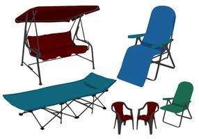 Vettori differenti delle sedie di prato inglese