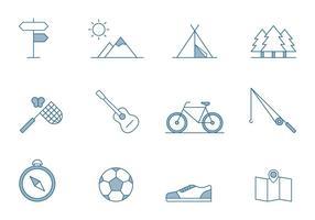 Icone di attività all'aria aperta vettore