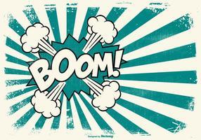 Grunge Comic BOOM! Stile di sfondo vettore