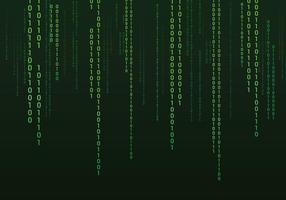 Sfondo di testo binario vettore