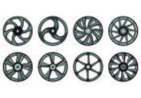 Icona di ruote in lega vettore