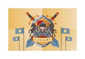 Illustrazione vettoriale di cavalleria gratis