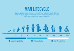 illustrazione del ciclo di vita dell'uomo vettore