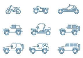 Icone fuoristrada vettore