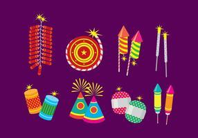 Icone piane di Diwali Fire Cracker