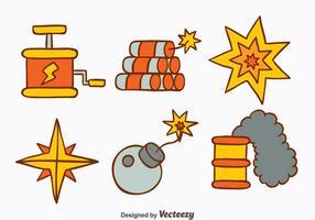 Vettori di strumenti di demolizione disegnati a mano