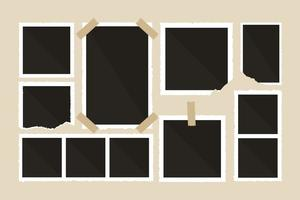 Strappato Photo Frame Vector