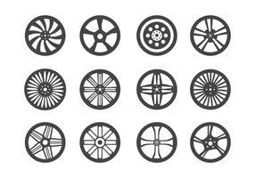 Vettore di ruote in lega