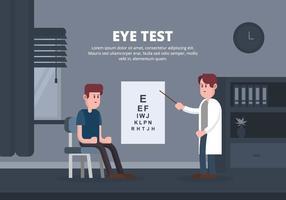 Illustrazione di prova dell'occhio vettore