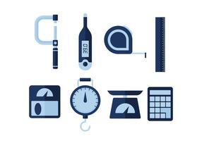 Icone di vettore di strumenti di misurazione