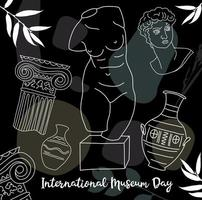 elementi della giornata internazionale dei musei vettore
