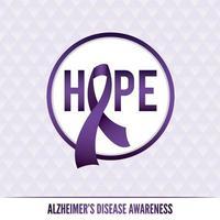 distintivi e nastro di consapevolezza della malattia di Alzheimer