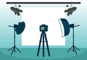 Illustrazione vettoriale di studio fotografico
