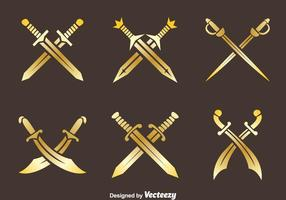 Vettori della spada della croce dorata