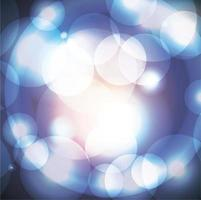 cerchi astratti di luce blu