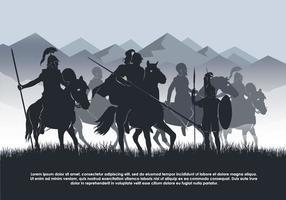 Illustrazione di sfondo vettoriale di cavalleria