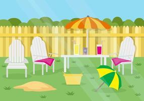 Vettore libero del fondo del partito di giardino di estate