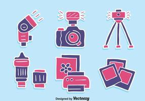 Vettore piacevole delle icone dell'elemento della macchina fotografica