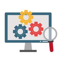 supporto tecnico e icona della tecnologia vettore