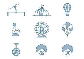 Icone del circo vettore