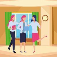 uomini d'affari e concetto di co-working