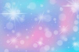 pastello arcobaleno sfocato con sfondo di scintille vettore