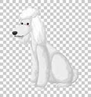 pozzanghera bianca in posizione seduta personaggio dei cartoni animati isolato su sfondo trasparente