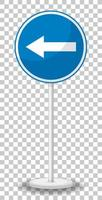 segnale stradale blu su sfondo trasparente