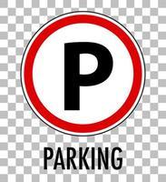 segno di parcheggio isolato su sfondo trasparente