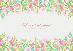 Carta acquerello colorato vettoriale gratuito con fiori
