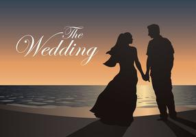 Vettore gratis di nozze di spiaggia