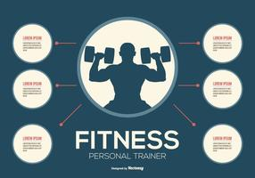 personal trainer fitness infographic vettore