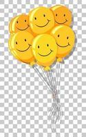 bouquet di palloncini con sorriso giallo