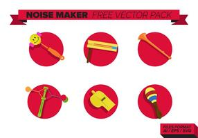 Pack di Noise Maker Free Vector