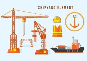 Elemento del cantiere navale vettore