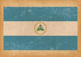 Bandiera del grunge del nuovo Nicaragua