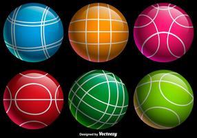 Vector colore Bocce Balls