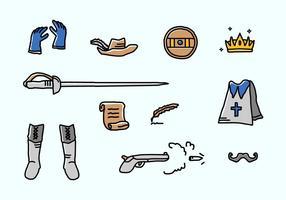 Moschettiere icone vettoriali