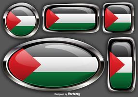 Distintivi della striscia della Palestina di Gaza di vettore