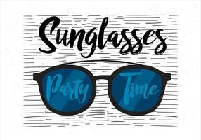 Illustrazione disegnata a mano libera degli occhiali da sole di vettore