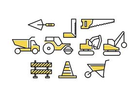Linea di costruzione gratuita Icon Vector