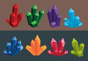 Collezioni di cristallo vettore