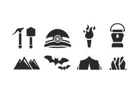 Set di icone speleologia