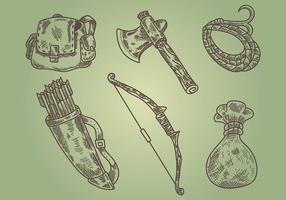 icone vettoriali litograph cacciatore