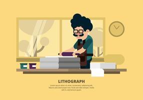Illustrazione di litografia vettore